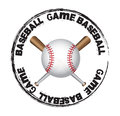 Baseball ball over seal background vector illustration Stock Image