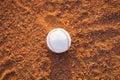 The baseball ball on pitchers mound