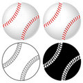 Baseball ball set Royalty Free Stock Photos