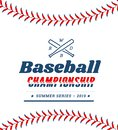 Baseball ball text frame on white background. Royalty Free Stock Photo