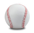 Baseball ball on a white background clipping path Stock Photography