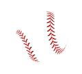 Baseball ball on white background Royalty Free Stock Photo