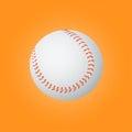 Baseball ball on a yellow