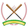 Baseball banner emblem vector illustration isolated white background Stock Photography