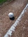 Baseball and Baseline Royalty Free Stock Photo