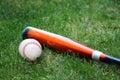 BaseBall and Bat Royalty Free Stock Image