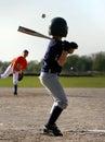 Baseball batter and pitcher Stock Image