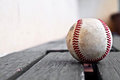 Baseball on a bench substitutes Royalty Free Stock Photo
