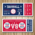 Baseball Blue Red Tickets