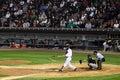 Baseball - broken, shattered bat Royalty Free Stock Photography