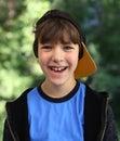 Baseball cap boy Royalty Free Stock Photo