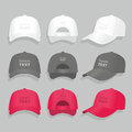 Baseball cap vector illustration on white background Stock Photos