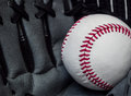 Baseball catch left handed mitt Royalty Free Stock Image
