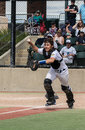 Baseball Catcher Action Royalty Free Stock Photo