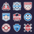 Baseball Colored Emblems