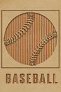 Baseball concept art made from cutout cardboard Royalty Free Stock Photos