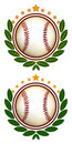 Baseball Crest Illustration Royalty Free Stock Images