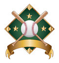 Baseball Design Template Diamond Royalty Free Stock Photography