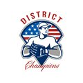 Baseball District Champions Retro Stock Images