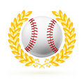 Baseball emblem Royalty Free Stock Image