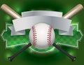 Baseball Emblem And Banner Ill...