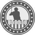 Baseball emblem - vector Royalty Free Stock Photo