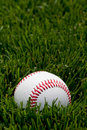 Baseball on field Royalty Free Stock Images