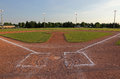 Baseball Field at Dusk Royalty Free Stock Photo