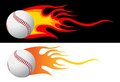 Baseball with flames Royalty Free Stock Photo
