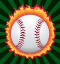 Baseball With Flames Royalty Free Stock Photography