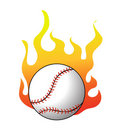 Baseball with flames vector Royalty Free Stock Photography