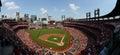 A baseball game at Busch Stadium Royalty Free Stock Photo