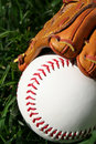 Baseball and Glove Stock Photography