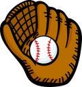 baseball glove and ball vector illustration Royalty Free Stock Photo