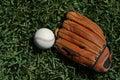 Baseball and Glove Royalty Free Stock Photo