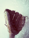 Baseball glove vertical Stock Photos