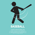 Baseball graphic sign vector illustration Stock Images