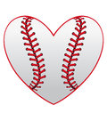 Baseball heart Royalty Free Stock Photo