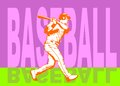 Baseball hit poster conceptual illustration about for amateur championship Stock Images