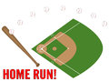 Baseball Home Run Illustration Royalty Free Stock Image
