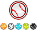 Baseball icons vector illustration of separate layers for easy editing Stock Photo
