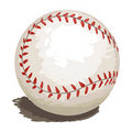 Baseball isolated Stock Image