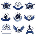 Baseball labels and icons set. Vector