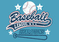 Baseball league champions on a light blue background Stock Photos