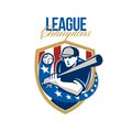 Baseball League Champions Retro Royalty Free Stock Image