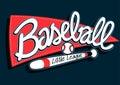 Baseball league childrens banner background