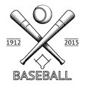 Baseball logo symbol bat ball game field icon isolated vector illustration Royalty Free Stock Photo