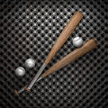 Baseball and metal wall background Royalty Free Stock Photo