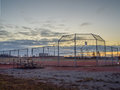 Baseball Park At Dawn