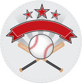 Baseball patch red and grey design Stock Image